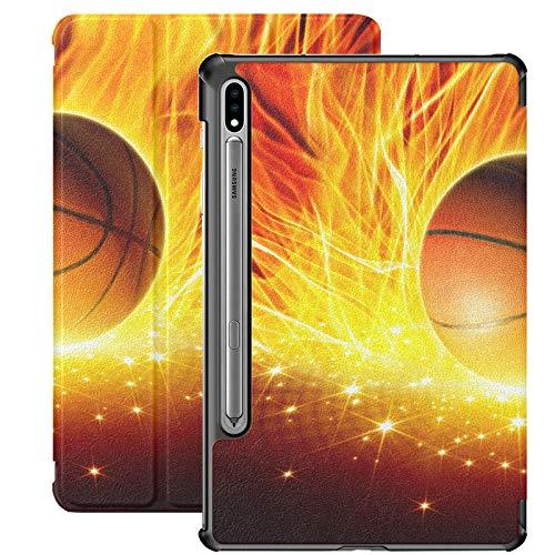 Baloncesto Ball In Fire and Water Cover para Samsung Galaxy S7 para Samsung Galaxy Tab S7 / s7 Plus Funda Galaxy Tab A Soporte Cubierta Trasera para Samsung Galaxy S7 para Galaxy Tab S7 11 Pulgadas S