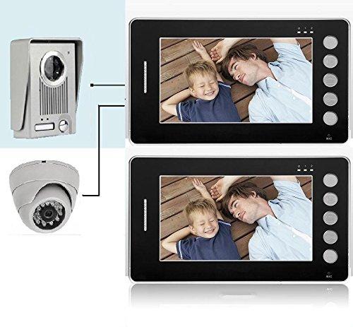 Videocitofono 7' colori 2 Monitor FOTO + Dome Telecamera ultra sottile (501)