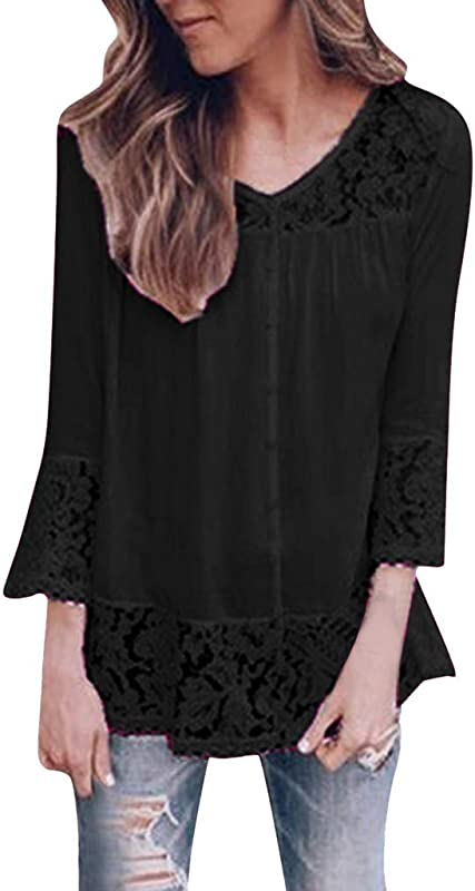 Staron Autumn Long Sleeve Blouse For Women Fashion O Neck Solid Lace Hollow Out Casual T Shirt Top Blouse