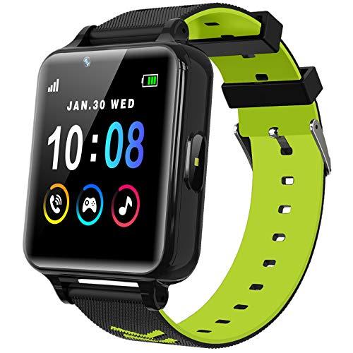 Smartwatch per Bambini per Ragazze e Ragazzi con Giochi Lettore Musicale Fotocamera HD Touch Screen Chiamata bidirezionale Orologio con Telefono SOS Call Game Smartwatch per bambini (Nero)