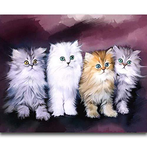 Puzzle de 500 Piezas Para Adultos Rompecabezas de Madera Paisaje de gato blanco Entretenimiento Juguetes Regalo educativo Decoración moderna para el hogar
