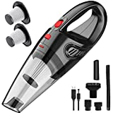 Happy-house Handheld Vacuum, Hand Vacuum Cordless with High Power, Mini Vacuum Cleaner Handheld Rechargeable for Home and Car Cleaning