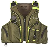 ONYX Pike All Adventure Paddle Sports Life Jacket, Green, S/M