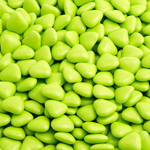 Herz Dragees 1 kg grün Lywedd® - Schokolade Schokoherzen Gastgeschenk