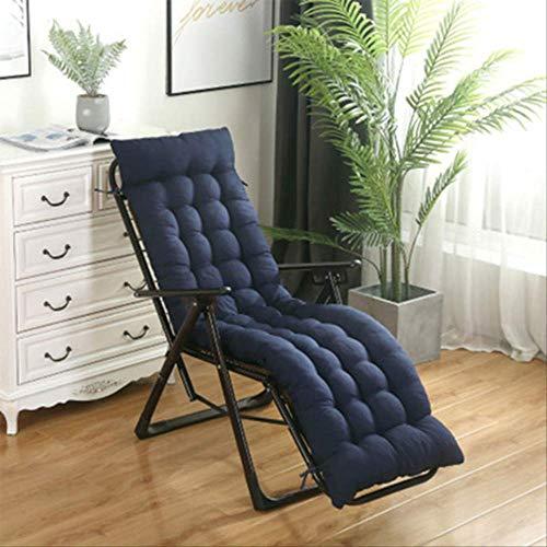 No Solido Lang kussen voor ligstoel, van rotan, opvouwbaar, voor tuin, dik zonlicht en lounge, zitkussen voor bank, bank of bank 48x155cm Blauw