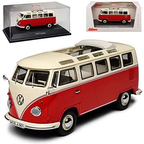 Schuco Volkwagen T1 Rot Beige Transporter Samba Bully Bus 1950-1967 1/43 Modell Auto Modell Auto