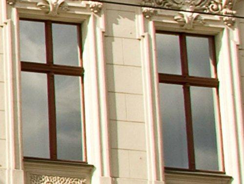PANZERFILM Sonnenschutzfolie 1 Rolle ca. 220x75cm, selbsthaftende Fensterfolie reflektierend, spiegelnd, UV-Schutz, Sichtschutzfolie, Blendschutzfolie für Bildschirm Arbeitsplatz und TV-Ecke