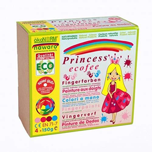 ökoNORM 79603 - Prinzessin Ecofee Fingerfarben 4er Set, Schreibwaren