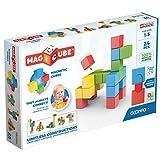 Geomag Magicube Full Color, Bloques de Construcción Magnéticos para Niños a Partir de 1 Año – Juego de 24 Bloques de 4 Colores Hechos de Plástico 100% Reciclado