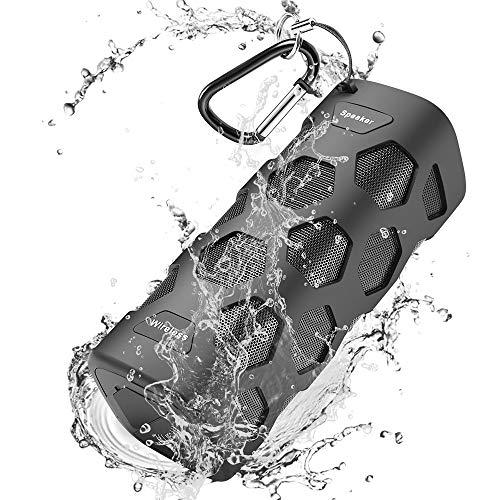 Bluetooth Lautsprecher, Bluetooth Box 5200mAh mit 20W Duale Treiber, Bluetooth Speaker 24h Spielzeit mit NFC, IP56 Wasserschutz, 20m Reichweite, HD Mikrofon, Kabelloser Lautsprecher für Handy, PC, TV