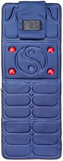 Massage Mat with Heat,9 Vibrating Motors,8 Mode, 3-Speed Adjustment Massager Cushion,Full Body Massager Relieves Stress Or...