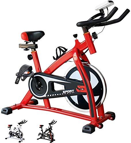 Qinmo Bicicleta estática Cubierta, Cubierta estacionaria Ciclo de la Bici, con sensores de frecuencia cardíaca, Pantalla LCD, Profesional de Bicicleta de Ejercicios for el hogar y la Gimnasia Uso