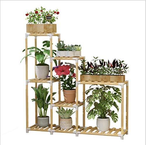 SADDPA Étagère de Fleur Bois Présentoire de Jardin Étagère de Rangement Intérieur ou Extérieur Wood Pot Shelf Storage Rack