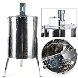 Electric Honey Extractor -4 frames Stainless Steel Radial Honey Extractor for Beekeeping Bee Harmony with Lid...