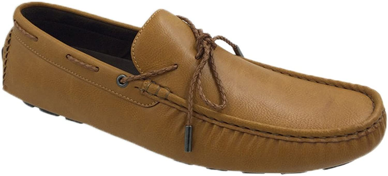 Mecca Mens Lace Slip-On Loafer Boat shoes-Black