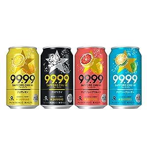 【Amazon.co.jp限定】 [2021年]サッポロ 99.99 フォーナイン 4種類24本 飲み比べセット [ チューハイ 350ml×24本 ]