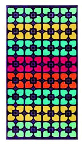 Toalla de playa o piscina JALLA 100% rizo de puro algodón teñido en hilo nido de abeja absorbente cm 90 x 180 Maxi (Mosaique)