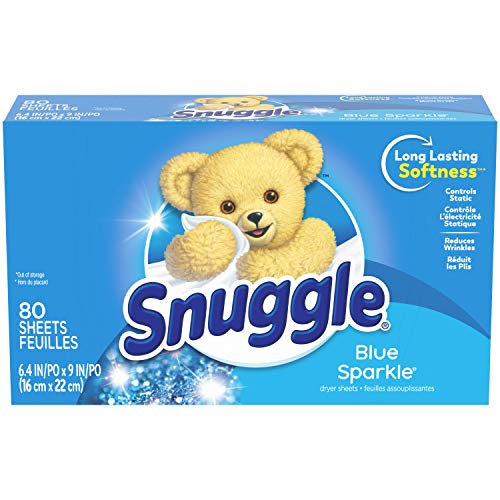 Product Image of the Snuggle Fabric Softener Dryer Sheets, Blue Sparkle, 80 Count