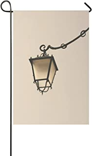 Home Decorative Outdoor Double Sided Street Light Lamp Post Lighting Vintage Ornate Garden Flag,house Yard Flag,garden Yard Decorations,seasonal Welcome Outdoor Flag 12 X 18 Inch Spring Summer Gift