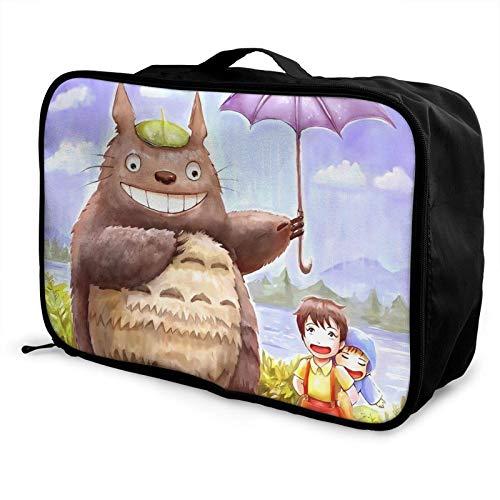 Anime My Neighbor Lightweight Large Caity Travel Bag, Portable Travel Bag, Lage Trolley Bag, Travel Organizer Bag