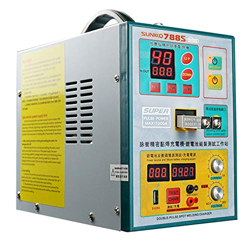 SUNKKO 788S-Pro Battery Spot Welder, Pulse Welding Machine for 18650 14500 Lithium Battery Pack Building Battery Charge and Test