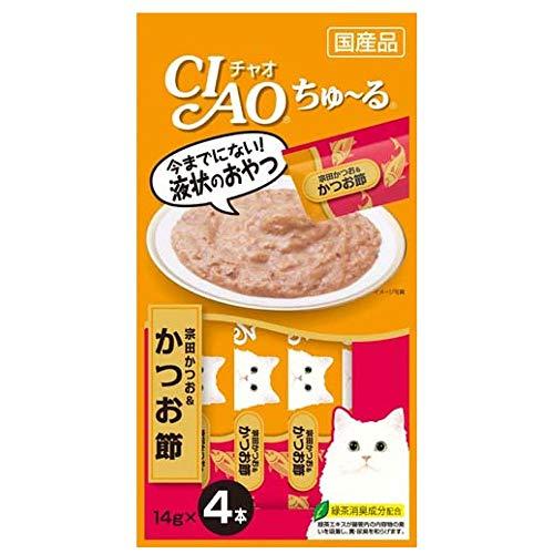 チャオ (CIAO) CIAOちゅーる 宗田かつお&かつお節 14g×4本