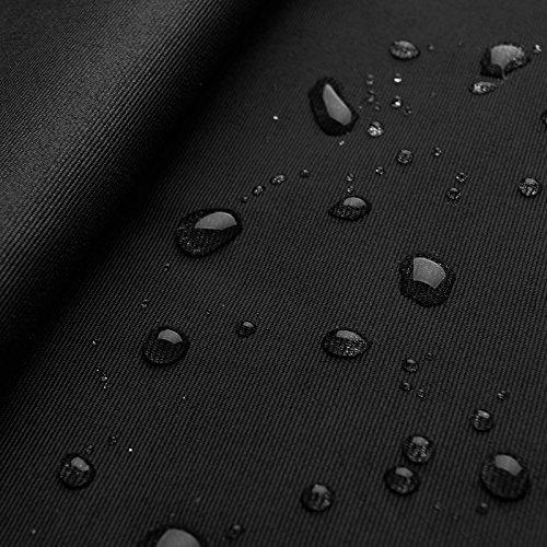 Cordura® Light - Tela resistente a la luz, al viento y al agua - Robusta - Por metros (Negro)