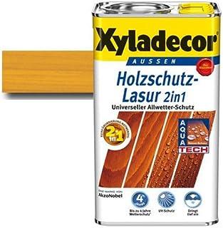 Xyladecor Holzschutz-Lasur 2 in 1 Eiche hell 5 l - Für alle alten & neuen Hölzer im Außenbereich - auch druckimprägnierte Holzbauteile