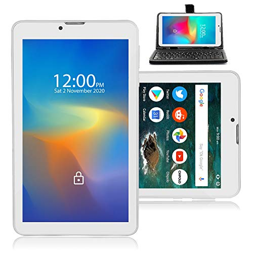 Indigi Trendy Global Unlocked 4G LTE Smartphone 7-inch Android Pie Tablet PC + Free Keyboard