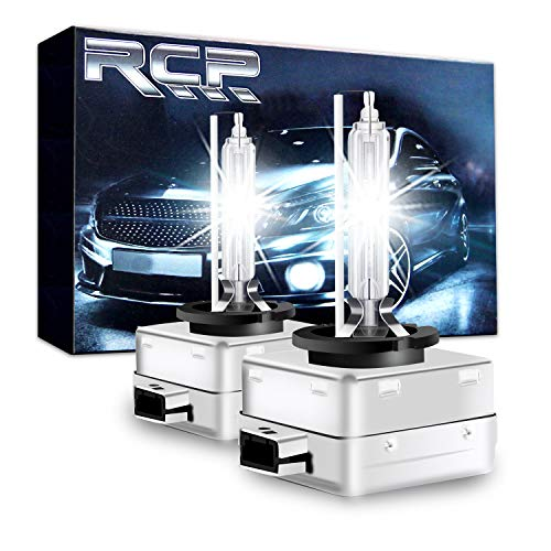 RCP - D3S6 - (A Pair) D3S 6000K Xenon HID Repcement Bulb Diamond White Metal Stents Base 12V Car Headlight Lamps Head Lights 35W
