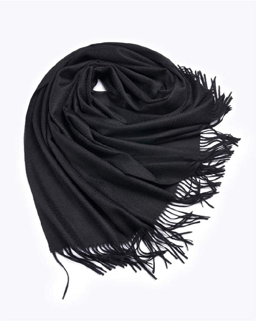Women Long Warm Winter Cashmere Wool Scarf Shawl Wrap for Thick Reversible Scarves