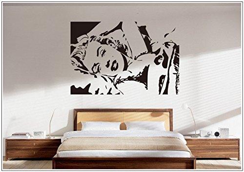 Deco-idea Wandtattoo wandaufkleber wandsticker Photo Porträt Marilyn Monroe wph007(Printed Sticker,ca.15 x 6cm)