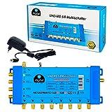 HB-DIGITAL Multiswitch pmse 5/8 1x SAT fino a 8 x abbonato / ricevitore per Full HDTV 3D 4K UHD con alimentazione