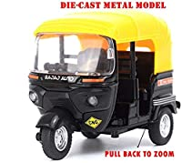 1:14 alloy pull back AUTO-RIKSHAW (TUK-TUK) model MADE OF STRONG zinc alloy body & plastic top & rubber for respective parts Strong pull back function. Helps to cultivate kids manual skills, reasoning and sociability Limited Stock!
