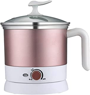 Xyanzi dianzhuguo 1.2L Mini sartén eléctrica hogar pequeña Cocina eléctrica Dormitorio cocinar Fideos instantáneos multifunción eléctrica Olla Caliente 600W 220x170x210mm / 8X6X8 Pulgadas