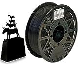 JANBEX Pla Filament 1.75 mm | 1kg Spule in Schwarz | für 3D Drucker oder Stift | 3D-Drucker Zubehör | 1,75 mm Fillament auf der Rolle | Druck Fillamentum | verschiedene Farben | Printer