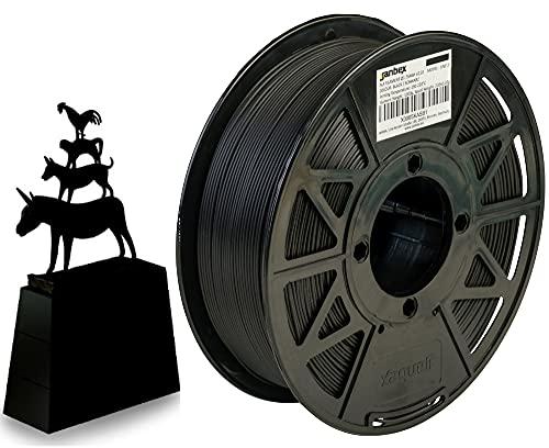 JANBEX Rotolo di filamento PLA per stampante 3D o penna in confezione sottovuoto, diametro da 1,75 mm, 1 kg, Nero