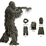 Best Ghillie Suits - Ghillie Suit, 3D Camouflage Hunting Apparel Camouflage Camo Review