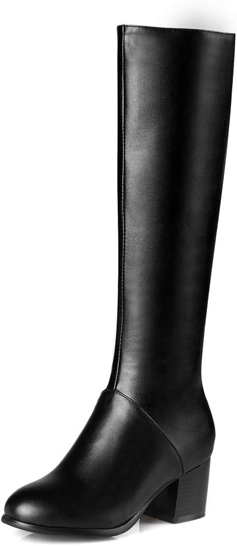 HOESCZS 2018 Beste qualität große größen 32-45 Winter Kniehohe Stiefel Frauen Schuhe Frau Freizeit Schwarze Frau Schuhe Mode Stiefel,    Quality First