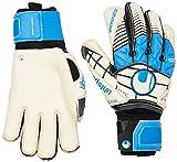 uhlsport Guantes Eliminator AG Bionik + X-Change, Color Negro/Azul/Blanco, 8.5, 100015601