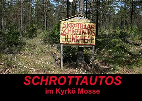 Schrottautos im Kyrkö Mosse (Wandkalender 2022 DIN A2 quer): Das Himmelreich für Schrottautos! Ein Museum mitten in Wald. (Monatskalender, 14 Seiten )
