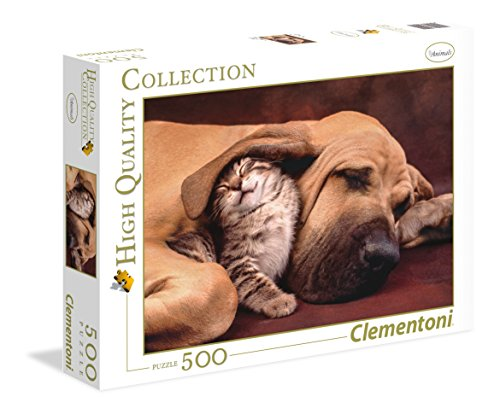 Clementoni- Fototeca Puppies High Quality Collection Puzzle, 500 pezzi, 35020