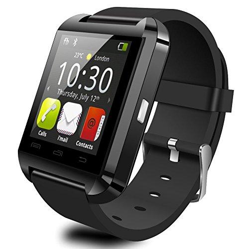 Verbesserte Version Bluetooth Smart-Uhr-Schwarz-Armbanduhr U8 Plus-UWatch Fit für Smartphones IOS Android