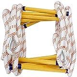 Strickleiter Fluchtleiter Rettungsleitern Tragbare Rettungsleitern Strapazierfähige Feuerleitern Rettungsleitern Rettungsleitern Multifunktions-Nylon-Weichleiter Home Climbing Engineering Ladder,15m