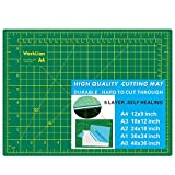 WORKLION Full 9' x 12' Art Self Healing PVC Cutting Mat, Double Sided, Gridded Rotary Cutting Board for Craft, Fabric, Quilting, Sewing, Scrapbooking Project