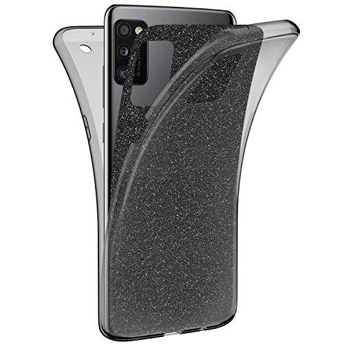 Compatible con Samsung Galaxy A41, carcasa brillante y transparente, carcasa de 360...