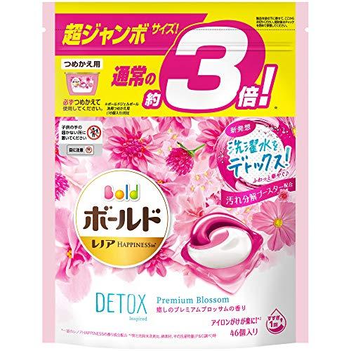 スマートマットライト ボールド 洗濯洗剤 ジェルボール 洗濯水をデトックス 癒しのプレミアムブロッサム 詰め替え 46個(約3倍)