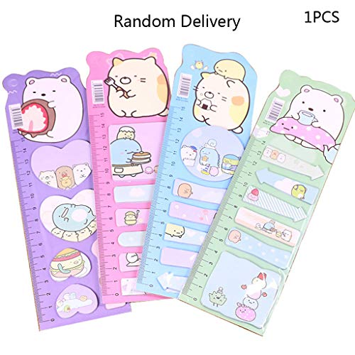 Sichuan Kawaii Cartoon Memo Pad Segnalibri Nota Sticky Paper Stationery Planner Stickers