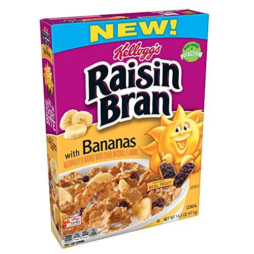 Discontinued Version Kellogg#039s Raisin Bran Breakfast Cereal With Bananas Good Source of Fiber 145 oz Box