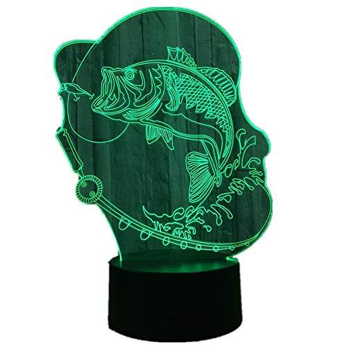 Burbuja Pescado Color Claro Carga botón táctil lámpara de Mesa niños increíble Regalo Lava lámpara bebé habitación lámpara decoración
